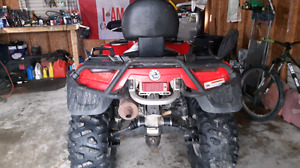 2007 can am  650 vtwin max xt legal 2 up seat