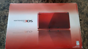 Nintendo 3DS rouge boite complet. Red complete box