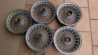 Wire spoke wheels from an Austin Healey