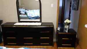 Dresser and two end tables