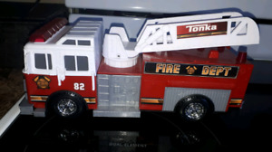 "Toy Tonka trucks - fore truck, stage truck, ""off road"" truck"