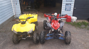 Two kids four wheelers for sale for 450 or bo