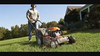 Lawnmowing services $35