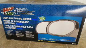 Snap on towing mirrors