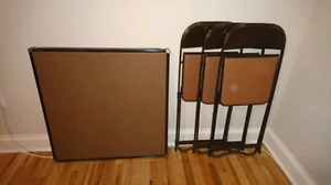 folding table and chaira