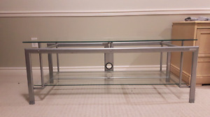 Crome Glass top Entertainment table