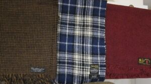 100 % wool scarfs made in Scotland, Germany