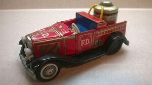 """""""COLLECTIBLE TIN TOY FIRE TRUCK"""""""