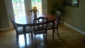 Dining table and chairs and/or hutch