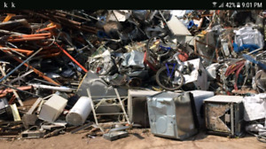 Scrap Metal, Appliance and Electronic pick up