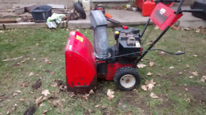 "MTD 8 hp 24"" snowblower"