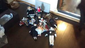 Ten collectible dolls for sale