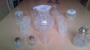 Northwood Daisy and Fern, French Opalescent Jug Set