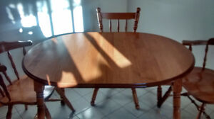 All wood kitcken table and chairs Peterborough Peterborough Area image 1