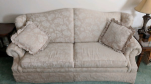 Beige Pull-Out Sofa
