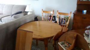 All wood kitcken table and chairs Peterborough Peterborough Area image 3