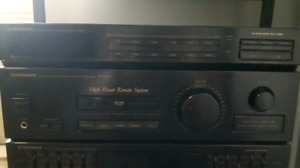 Pioneer stereo cassette deck receiver RX-740 graphic equalizer