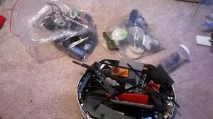 lot of accessories for train model