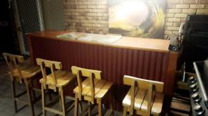 Wooden and Tin Bar