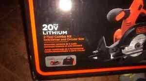 Black and Decker 20v  2 tool combo kit  London Ontario image 3