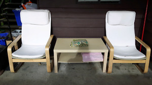 Two chairs and a table!