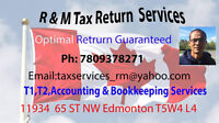 PERSONAL TAX RETURN, SINGLE $30, COUPLE $50 WITH DEPENDENT