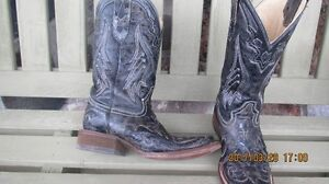 Corral black Vintage Python Inlay Cowgirl Boots 7M