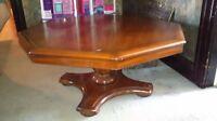 Multi-purpose octagonal hardwood table