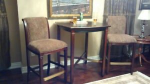 Pub table and bar stools
