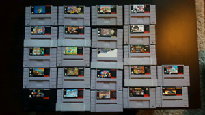 SNES, 2 CONTROLLERS, 22 GAMES