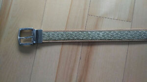"34"" Timberland Reversible Tan Leather Belt"
