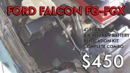 FGX FG XR6 TURBO BATTERY RELOCATION TURBO 4 AIR INTAKE TURBO SIDE