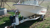 1978 18' Cutter boat with 1996 Mercury 100hp