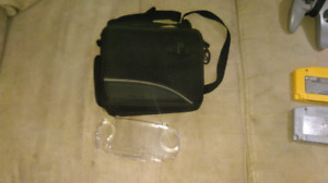 Psp carrying case and plastic holder
