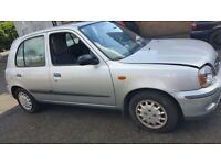 2001 NISSAN MICRA SE 16V PETROL 5DR 1.4 SILVER FOR**BEARKING**