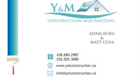 YM construction and painting