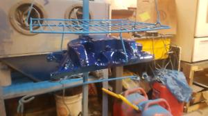 Powder coating, sandblasting, painting