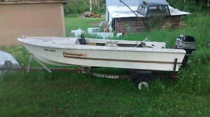 Peterborough boat with easy hauler trailer