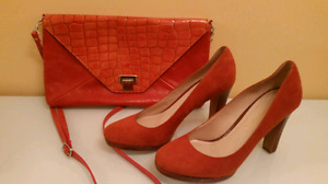 Ladies shoes and purse set