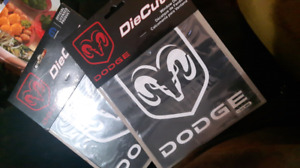 2 dodge die cut stickers
