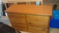 Solid Wood Dresser, Bed Frame and Sultan Mattress