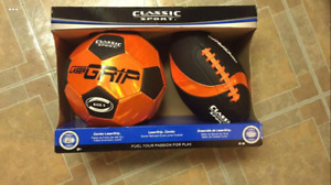 Soccer Ball/Football Combo! Unopened!
