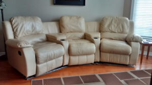 leather cinema recliner couch