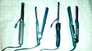 Hair straighteners and curlers!