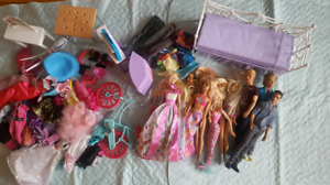 Barbie Dolls Clothing and Furniture Lot