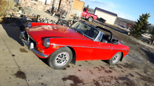 1974 MGB Roadster - trade for a top of the line hot tub.