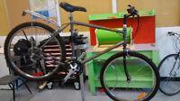 Vélo Millenium de montagne prêt pour l'hiver