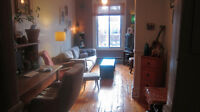 Warm, funky Plateau sublet