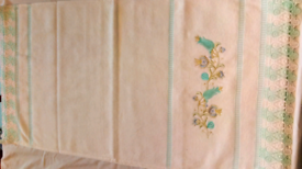 Green Flower Lace Towels