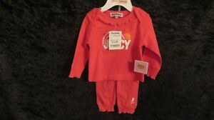 NWT Baby Girl Juicy Couture 2 Pce PJ's Pink Size 6-9 Mths